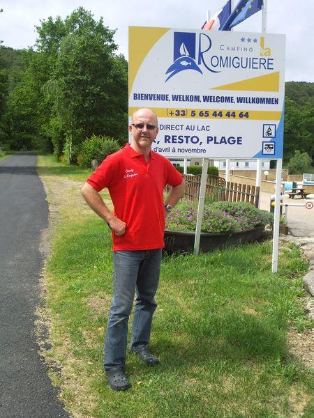Stephane - le patron du Camping La Romiguiere