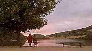 coucher de soleil au camping la romiguiere