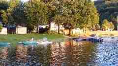 Camping La Romiguiere : La camping au bord du lac
