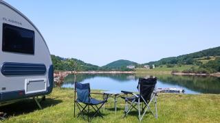 un emplacement au bord du lac